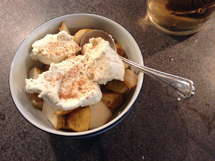 pears and ricotta